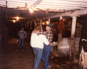 Rusty & Cindy in the barn (1982-1987)